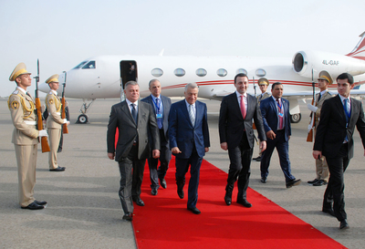 Georgian PM Irakli Garibashvili arrives in Azerbaijan