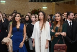 "President of Heydar Aliyev Foundation Mehriban Aliyeva and Vice-President of the Foundation Leyla Aliyeva attend opening of ""Here Today"" exhibition in London"