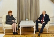 President Ilham Aliyev received the former President of Latvia and the director of the Bibliotheca Alexandrina