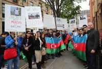 London-based Azerbaijanis express their anger over hostages in Armenian captivity
