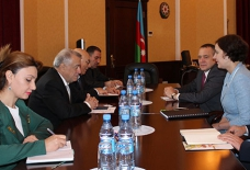 Azerbaijan`s Minister of Energy meets Minister of Economics of Latvia