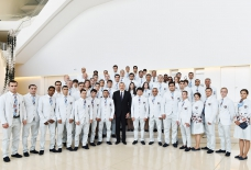 President Ilham Aliyev attended ceremony to see off Azerbaijani athletes who will compete at 31st Summer Olympic Games in Rio de Janeiro  VIDEO