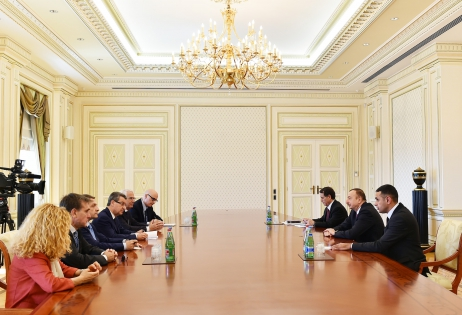President Ilham Aliyev received delegation led by Chairman of European Policies Committee of Italian Senate VIDEO