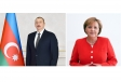 President Ilham Aliyev congratulates Angela Merkel on her alliance`s victory in German parliamentary elections