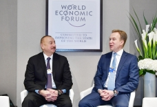President of Azerbaijan Ilham Aliyev`s working visit to Switzerland President Ilham Aliyev met with President of World Economic Forum in Davos VIDEO