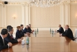 President Ilham Aliyev received delegation led by Turkish minister of trade VIDEO