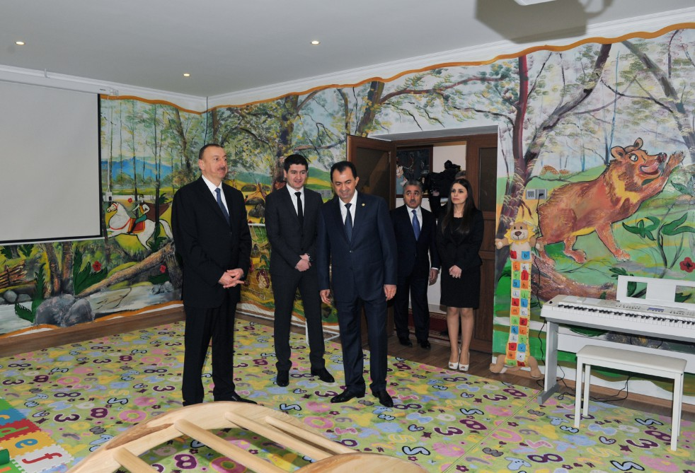 President Ilham Aliyev attended the opening of a newly-constructed kindergarten in Lankaran VIDEO