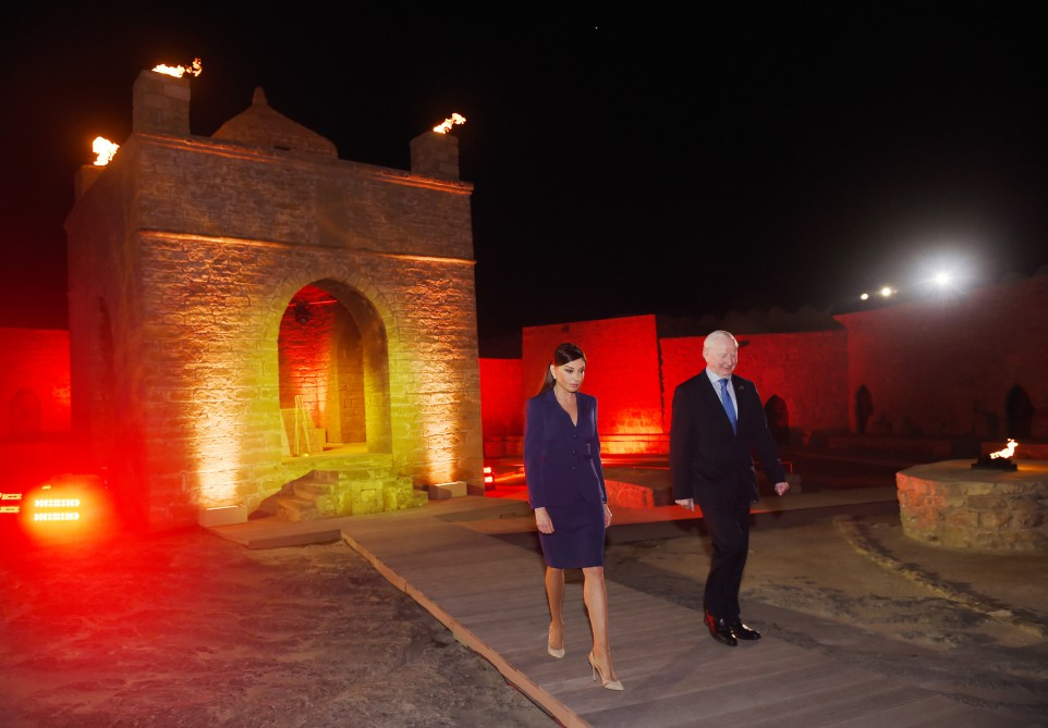 A ceremony was held to light the flame of Baku-2015 first European Games President Ilham Aliyev attended the ceremony VIDEO