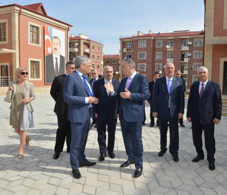 Chairman of Council of Europe Committee of Ministers meets IDPs in Azerbaijan