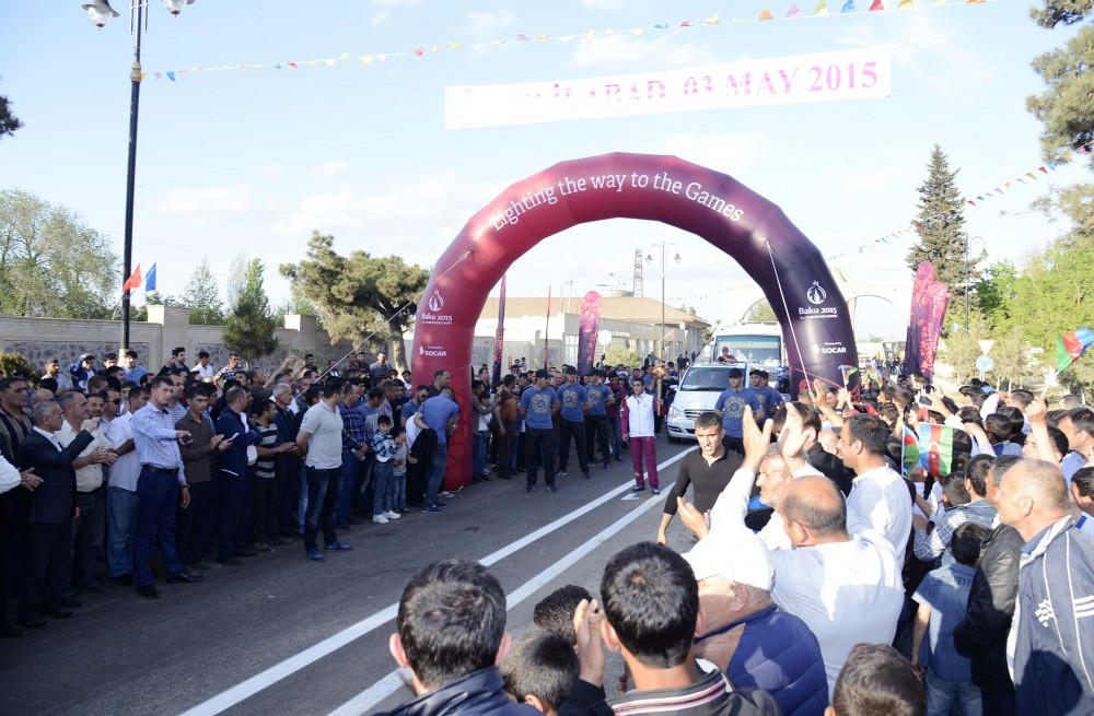 Journey of Baku 2015 Flame continues south to Jalilabad VIDEO