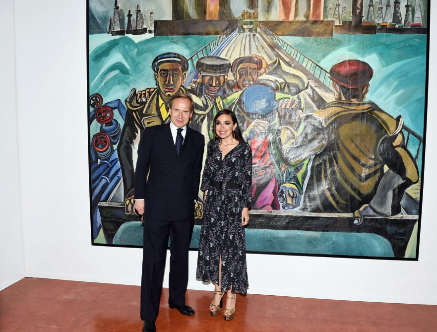 In framework of 56th Venice Biennale two exhibitions opened at Azerbaijan pavilionLeyla Aliyeva, Vice-President of Heydar Aliyev Foundation attended opening of exhibitions