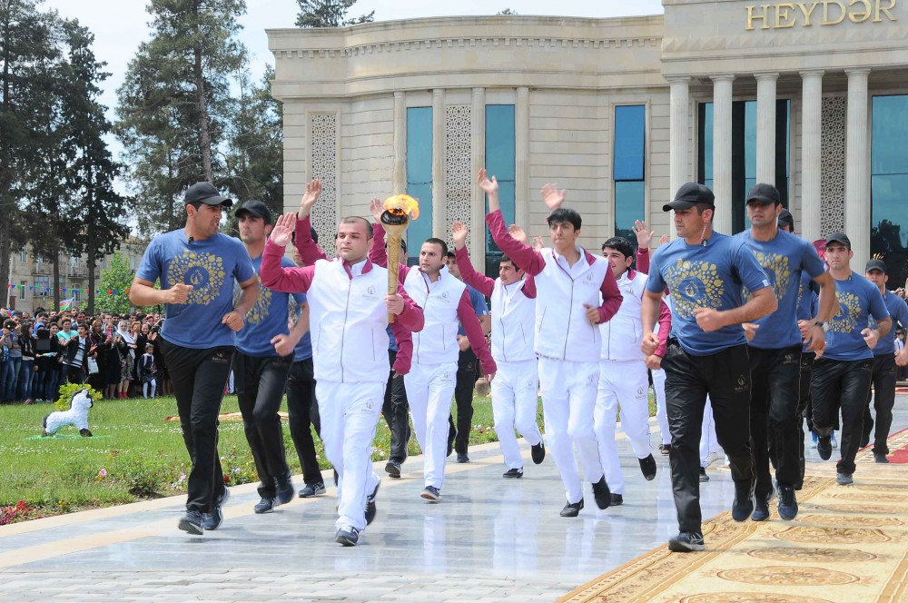 Azerbaijan's Imishli welcomes torch of European Games VIDEO