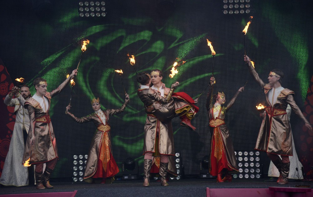 Baku 2015: Flame arrives in front-line region