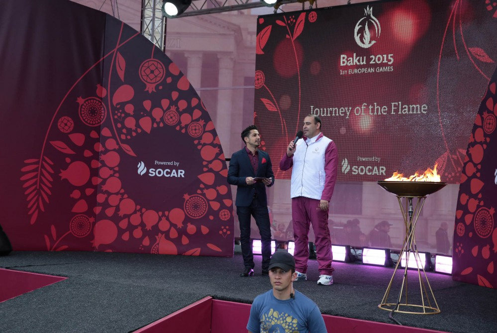 Baku 2015 flame arrives in Goranboy from Barda VIDEO