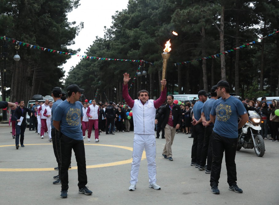 Naftalan welcomes Flame of First European Games VIDEO