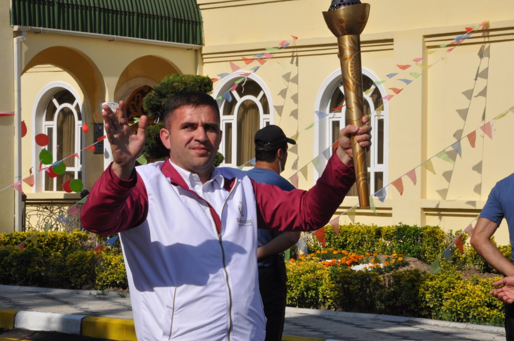 Samukh welcomes Flame of First European Games VIDEO