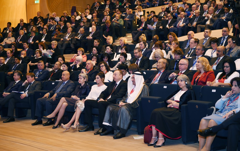 President Ilham Aliyev attended the opening of the 3rd World Forum on Intercultural Dialogue VIDEO
