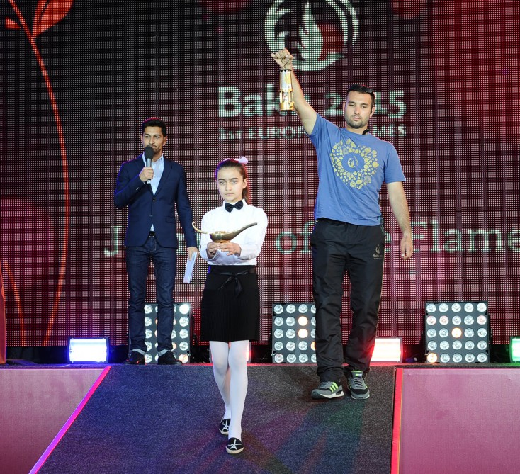 Baku 2015 flame arrives in Shamkir