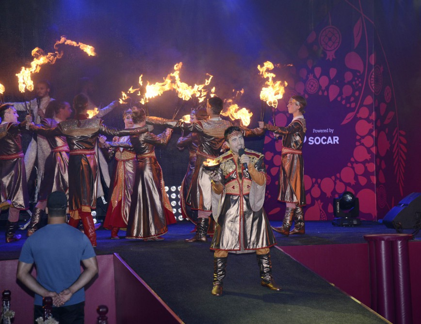 Journey of Baku 2015 flame arrives in Shaki VIDEO