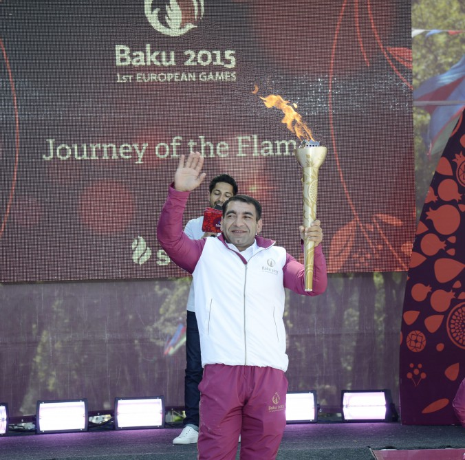 Ismayilli welcomes flame of Baku 2015 VIDEO