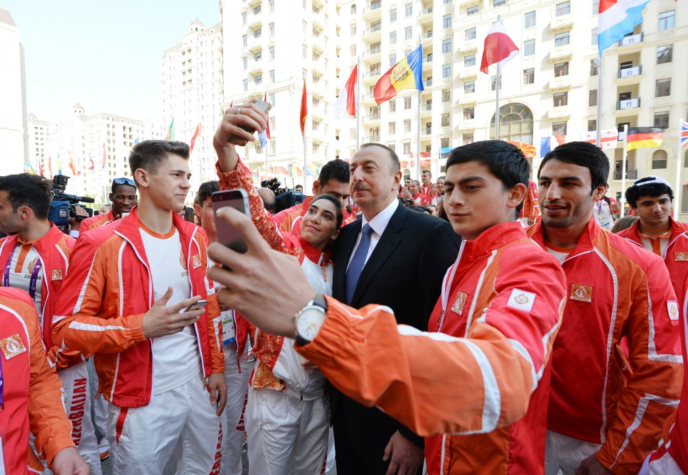 President Ilham Aliyev met athletes who will represent Azerbaijan in the first European Games VIDEO