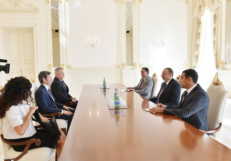 President Ilham Aliyev received Captains Regent of San Marino Andrea Belluzzi and Roberto Venturini VIDEO