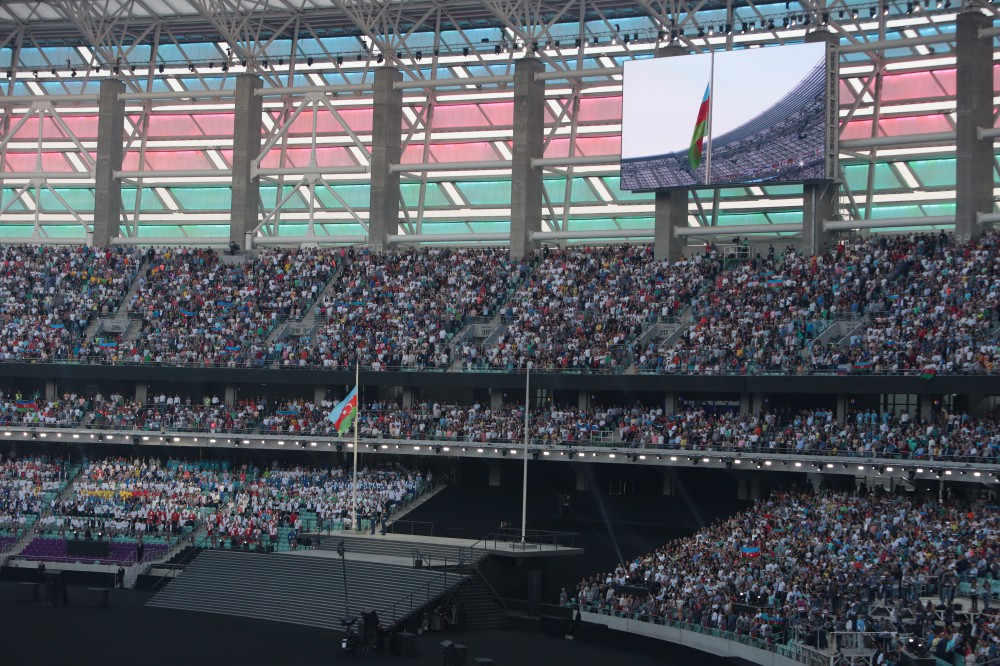 Opening Ceremony of Baku 2015 First European Games Live commentary provided by AZERTAC