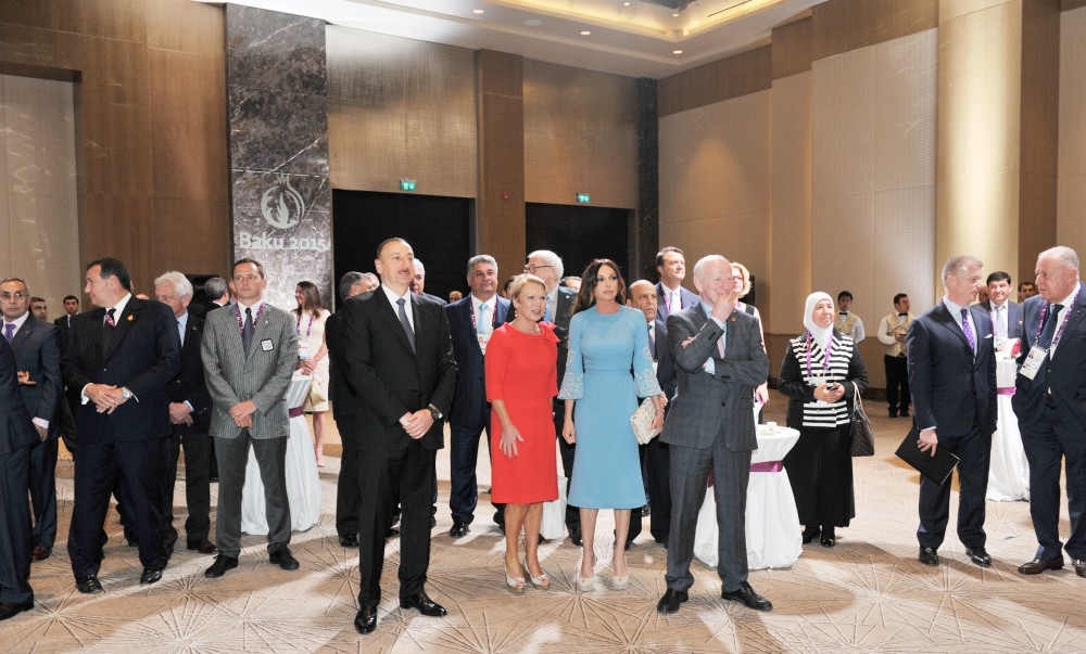 A reception was hosted for members of the Olympic family on the occasion of the First European Games VIDEO