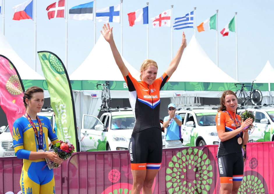 Women`s road cycling competition starts at Baku 2015