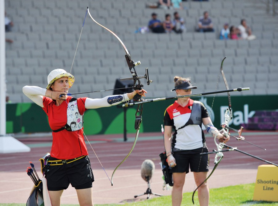 German Winter defeats Danish Jager to win women's individual archery gold