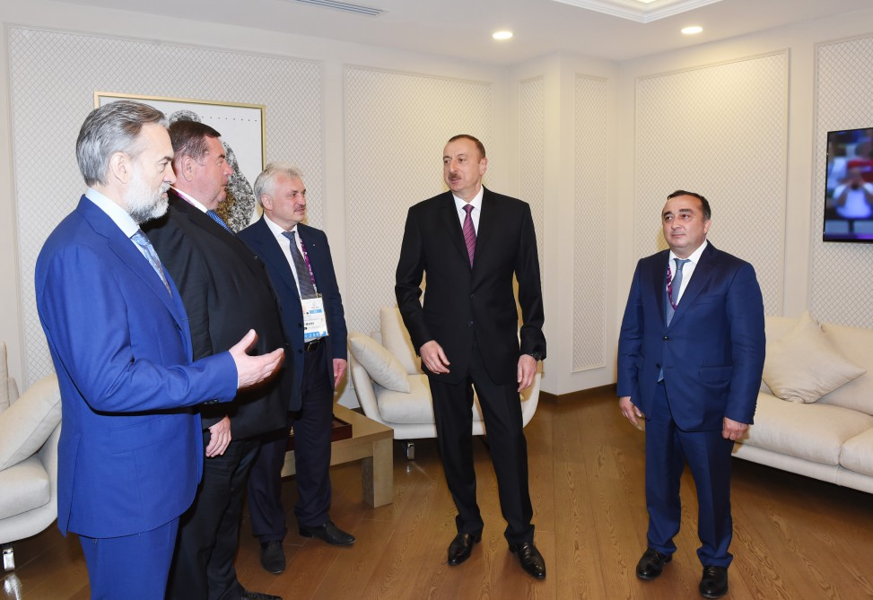 President Ilham Aliyev was presented with the Championship belt of sambo by the decision of the Executive Committee of the International Sambo Federation VIDEO