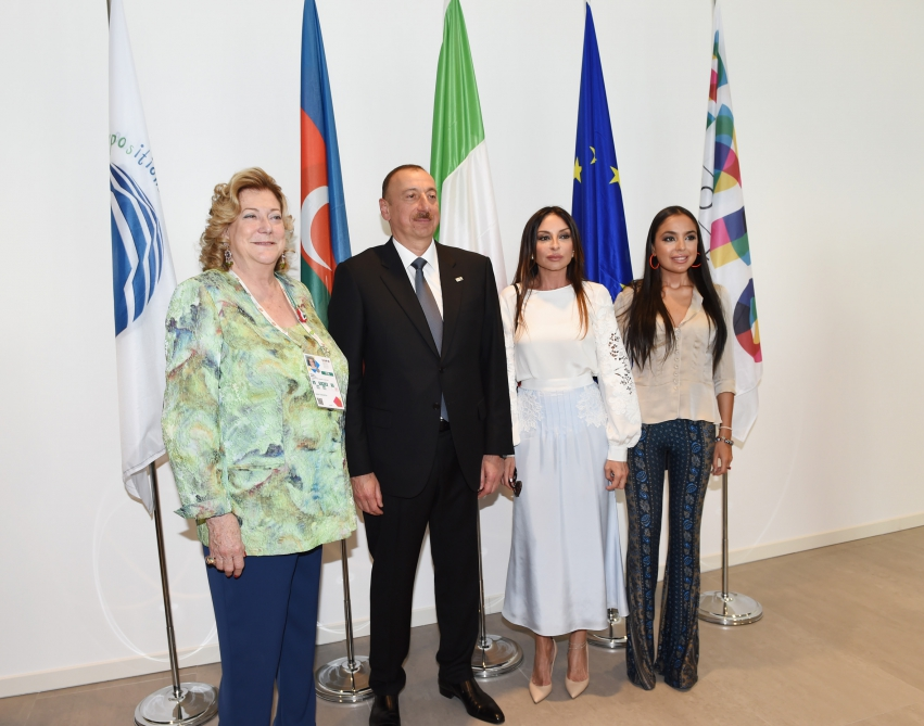 "A ""National day"" was organized at the Azerbaijan`s pavilion in the ""Expo Milano 2015"" international exhibitionPresident Ilham Aliyev and his spouse Mehriban Aliyeva attended the ceremony VIDEO"