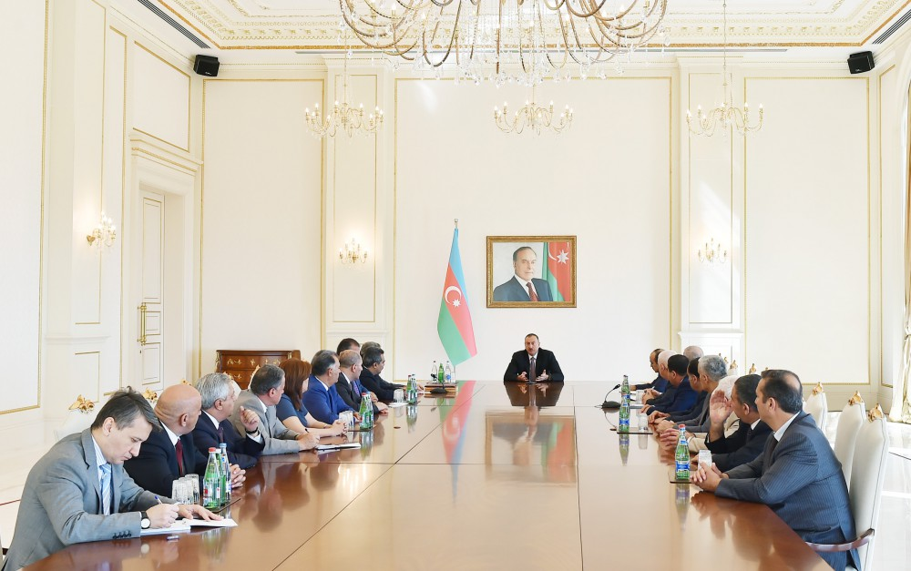 President Ilham Aliyev met with members of the Board of Directors of the Press Council on the occasion of the 140th anniversary of the national press VIDEO