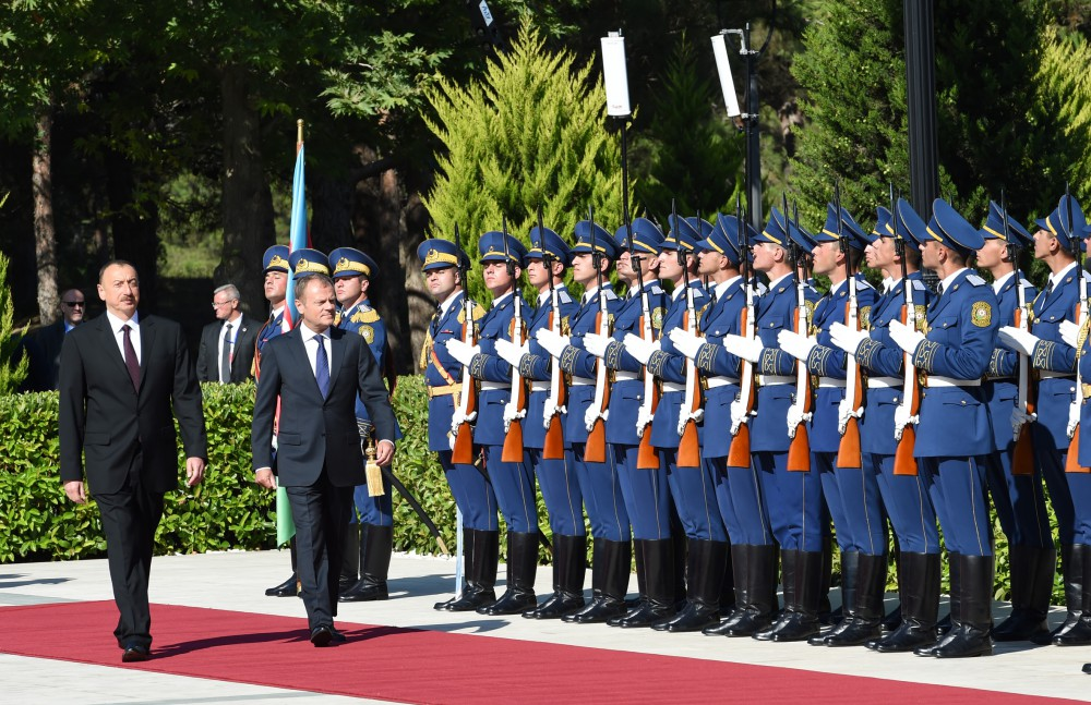 Official welcoming ceremony for the President of the European Council was held VIDEO