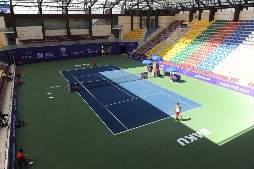 Russian tennis player into next round of Baku Cup-2015