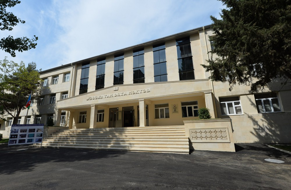 President Ilham Aliyev reviewed secondary school No 283 after repair and reconstruction in Baku VIDEO