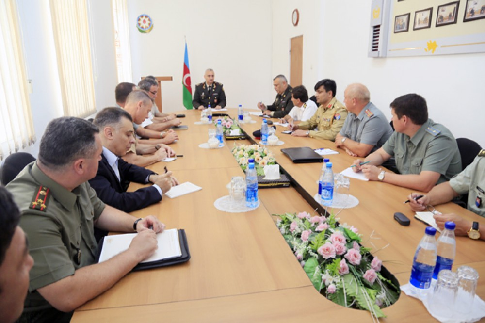 Foreign military attaches visit International Military Cooperation Department of Azerbaijani Defense Ministry