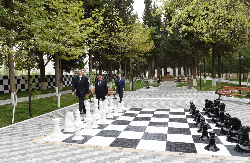 President Ilham Aliyev attended the opening of the newly-reconstructed Aghsu Chess School VIDEO