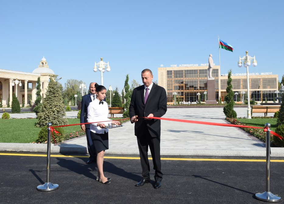 President Ilham Aliyev attended the opening of Ujar Youth Center VIDEO