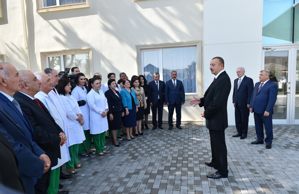 President Ilham Aliyev reviewed Goychay District Central Hospital after major overhaul VIDEO