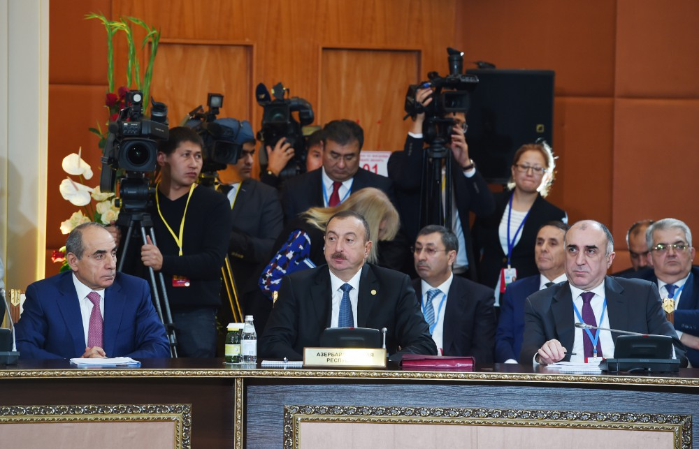 President Ilham Aliyev attended CIS Heads of State Council's session in Kazakhstan VIDEO
