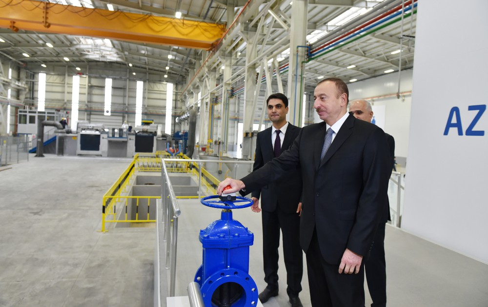 President Ilham Aliyev attended the opening of the Technical Equipment Plant in Sumgayit VIDEO