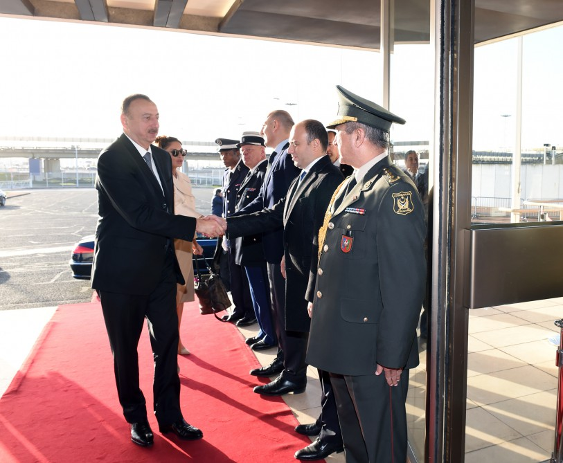 President Ilham Aliyev completed his working visit to France VIDEO