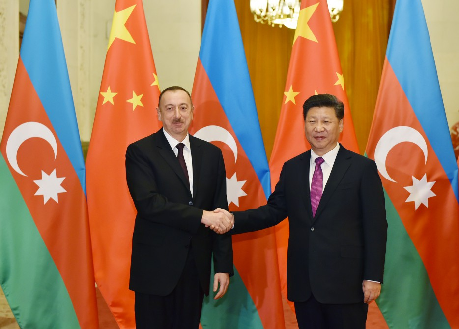 Official welcoming ceremony for President Ilham Aliyev was held in Beijing VIDEO