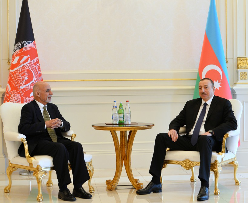 Azerbaijani and Afghan presidents held a one-on-one meeting VIDEO