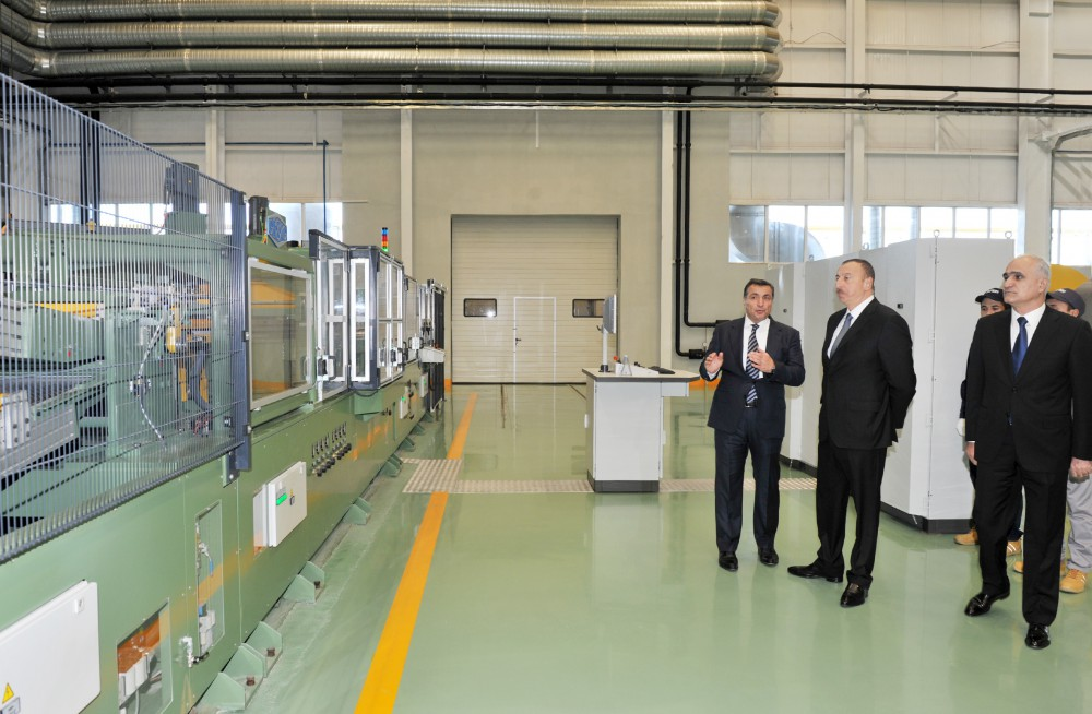 President Ilham Aliyev attended the opening of a large-size transformer plant, and laid a foundation stone for a new enterprise VIDEO