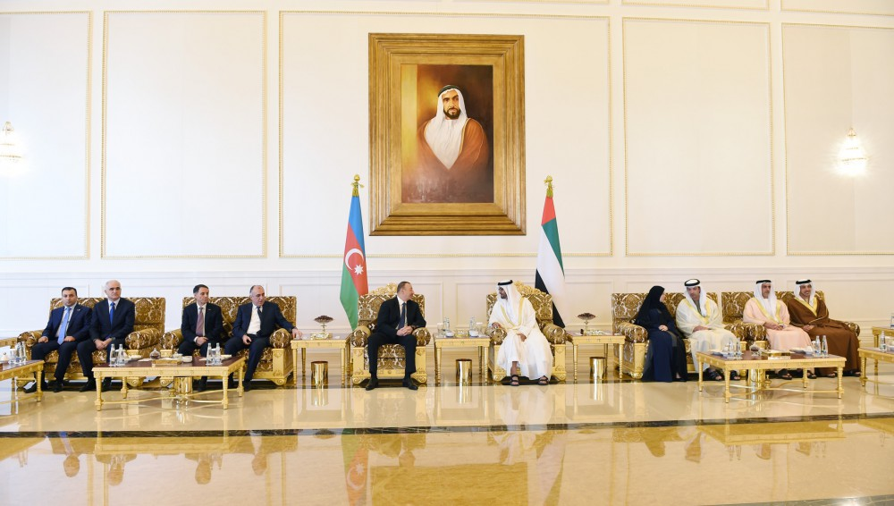 President Ilham Aliyev and Crown Prince of Abu Dhabi held an expanded meeting VIDEO