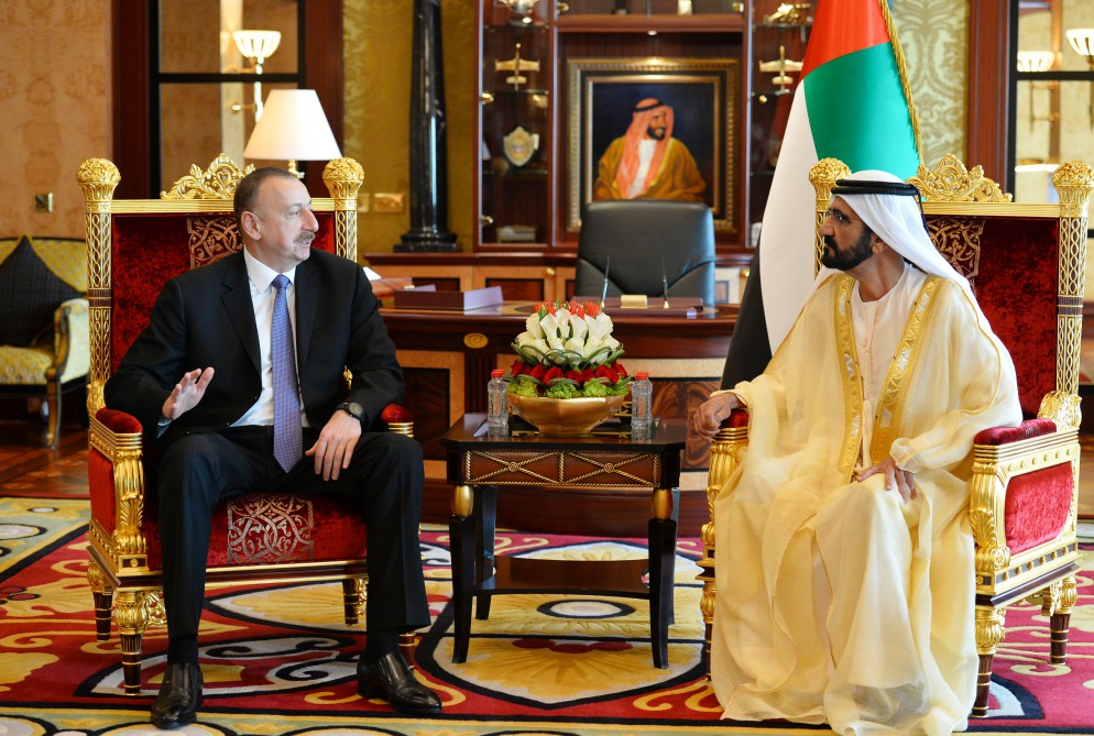 President Ilham Aliyev had an expanded meeting with Vice President and Prime Minister of the United Arab Emirates Sheikh Mohammed bin Rashid Al Maktoum VIDEO