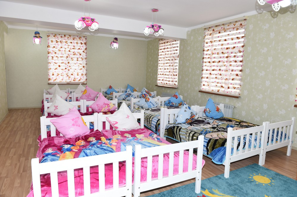 President Ilham Aliyev attended the opening of Tovuz city orphanage-kindergarten No. 7 VIDEO