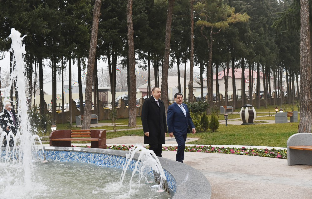 President Ilham Aliyev attended the opening of Youth House in Qovlar, Tovuz VIDEO